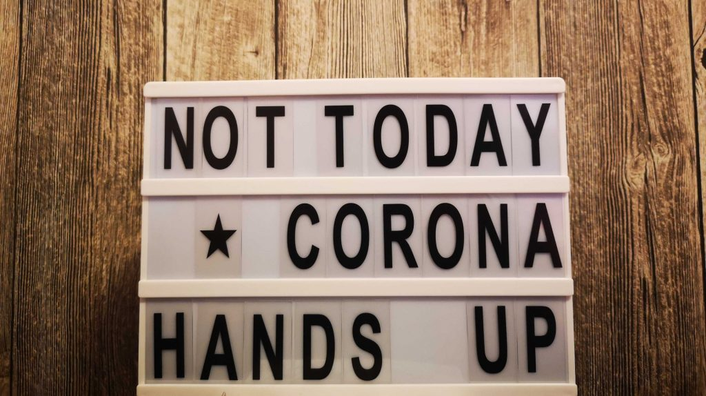 Hands up Corona